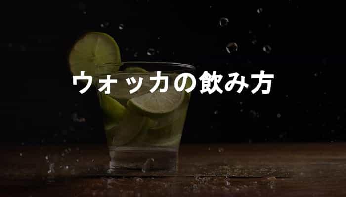 【ウォッカの飲み方】ウォッカが家でパッと酔いたいひとり飲み好きな人におすすめな理由!